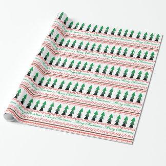Wunderliches Weihnachtsgeometrische Muster Geschenkpapier