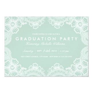 Würdevolle Spitze-Absolvent-Party Einladung