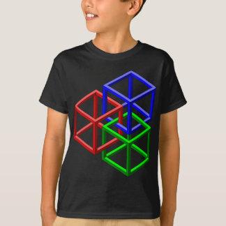 Würfel-unmögliche Geometrie-optische Täuschung T-Shirt