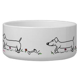 Wurst-Hund, Hundeschüssel Hundenäpfe