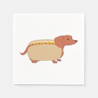 Würstchen-Hund Servietten