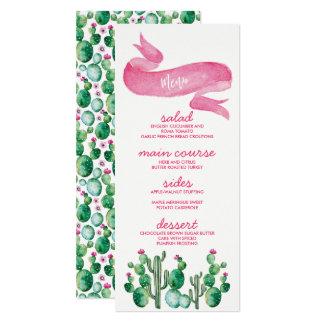 Wüsten-Aquarell-Hochzeits-Menü-Karten 10,2 X 23,5 Cm Einladungskarte