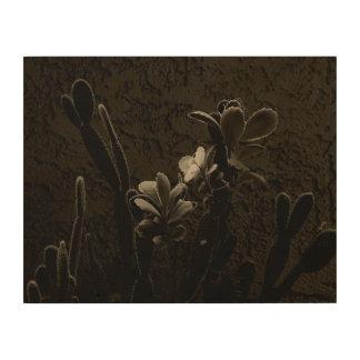 Wüsten-Pflanzen Holzleinwände