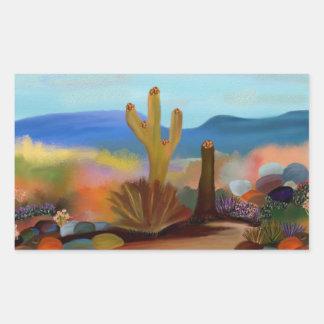 Wüsten-Tapisserie-Aufkleber Rechteckiger Aufkleber