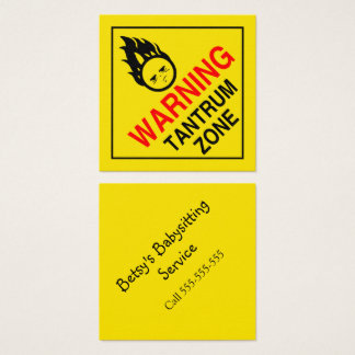 Wutanfall-Zone Quadratische Visitenkarte