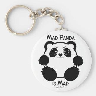 Wütender Panda Standard Runder Schlüsselanhänger