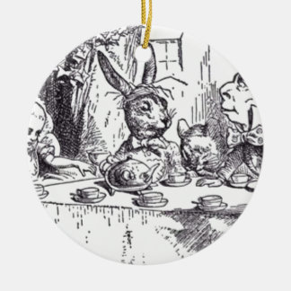 Wütendes Hutmacher-Tee-Party Keramik Ornament