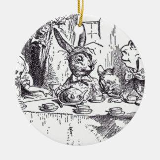 Wütendes Hutmacher-Tee-Party Rundes Keramik Ornament