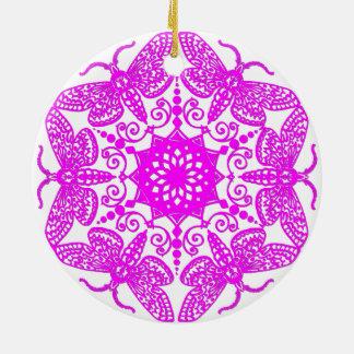 Wycinanka Motten-Muster Keramik Ornament