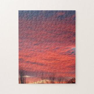 Wyoming-Sonnenuntergang-Puzzlespiel Puzzle