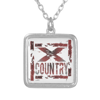 XC Cross Country-Läufer Versilberte Kette