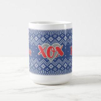XOX Feiertag für IHR rotes und blaues Tasse