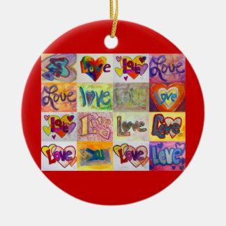 XOXO Liebe-Mosaik-Verzierungs-Kunst Keramik Ornament