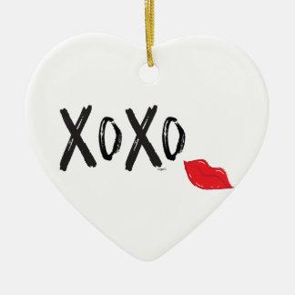 XoXo-Umarmung-Kuss-mit-Rot-Lippen Keramik Ornament
