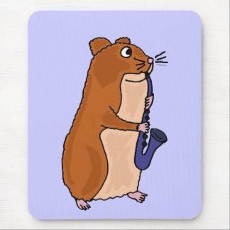XX Hamster, der das Saxophon spielt Mousepad