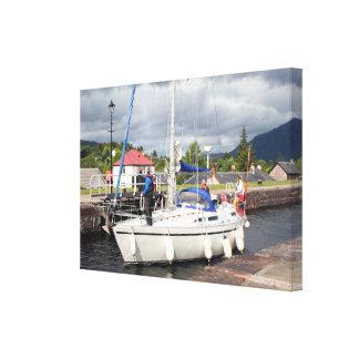 Yacht, kaledonischer Kanal, Schottland Leinwanddruck