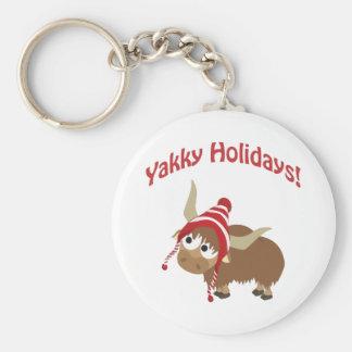 Yakky Feiertage! Winter-Yak Schlüsselanhänger