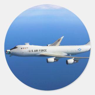 YAL-1A im Flugzeug Laser-Flugzeuge im Flug Runder Aufkleber