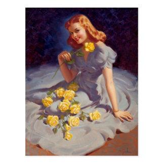 Yellow Roses Postkarte