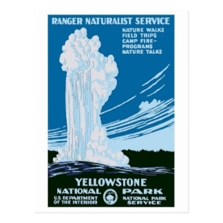 """Yellowstone Nationalpark"" Vintage WPA Postkarte"