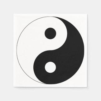 Yin und Yang Papierservietten