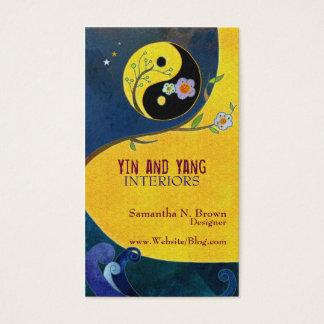 Yin und Yangs Innenarchitektur-Visitenkarten Visitenkarten