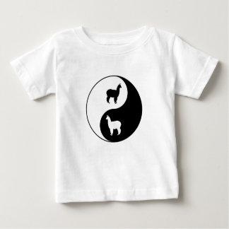 Yin Yang Alpaka-Kunst Baby T-shirt