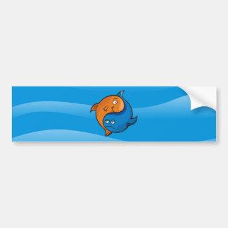 Yin Yang Fisch-Cartoon Autoaufkleber