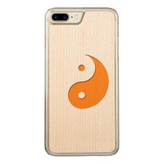 Yin Yang - Orange 1 Carved iPhone 7 Plus Hülle
