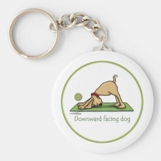 Yoga - abwärtsgerichteter Hund Standard Runder Schlüsselanhänger