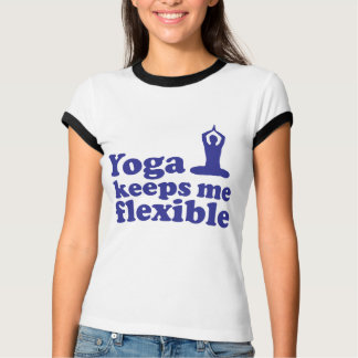Yoga behält mich flexibel T-Shirt