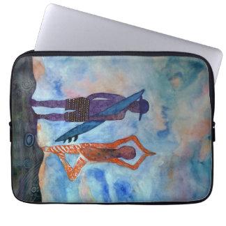 "Yoga-Brandungs-Aquarell-Neopren-Laptop-Hülse 13"" Laptop Sleeve"