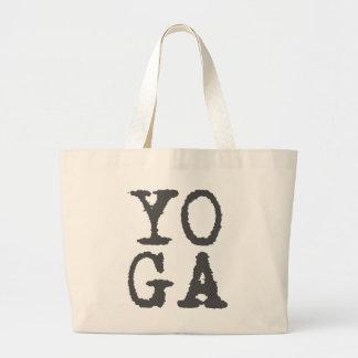 YOGA - Grau, Spaß-Typografie-Taschentasche Jumbo Stoffbeutel