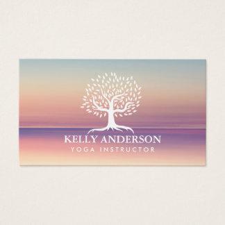 Yoga-Lehrer-Leben-Trainer-Vintager Baum nobel Visitenkarte
