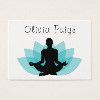 Yoga-Lehrer-Meditations-Lotos-Blume weiblich Jumbo-Visitenkarten