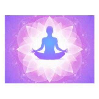 Yoga-Meditation Postkarte