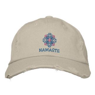 Yoga-Namaste gestickte Kappe