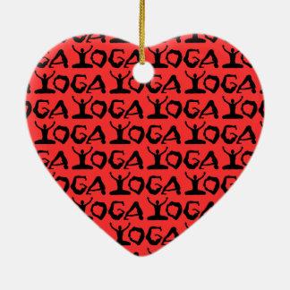 Yoga-Silhouetten Keramik Ornament