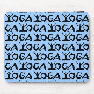 Yoga-Silhouetten Mauspads