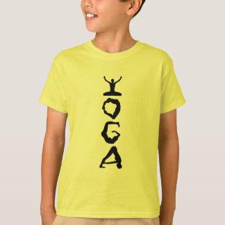 Yoga-Umbau-Schwarz-Silhouetten T-Shirt