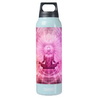 Yoga-Vermittlung Isolierte Flasche