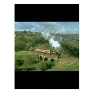 Yorkshire-Dampf an Mytholmes_Steam Zügen Postkarte
