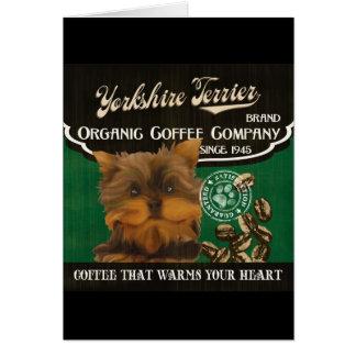 Yorkshire-Terrier-Marke - Organic Coffee Company Karte