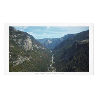 """""""Yosemite mit Fluss und Fällen,"""" Natur-Dekor Kunst Photo"""