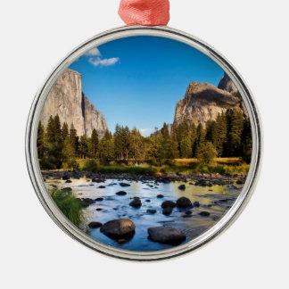 Yosemite Nationalpark, Kalifornien Rundes Silberfarbenes Ornament