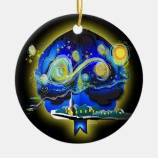 Youra Gehirn Keramik Ornament