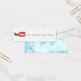 Youtube socialmedia Videoschöpfer-Visitenkarte Mini Visitenkarte