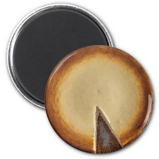 Yummy Käsekuchen-NahrungsmittelKühlschrank-Magnet Runder Magnet 5,7 Cm