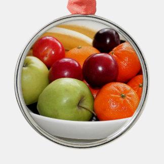yummy Süßigkeiten der Rundes Silberfarbenes Ornament