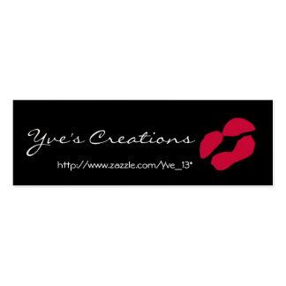 Yves Kreationens-Visitenkarte - kundengerecht Mini-Visitenkarten